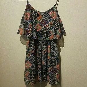 Forever 21 dress with flowy fun pattern